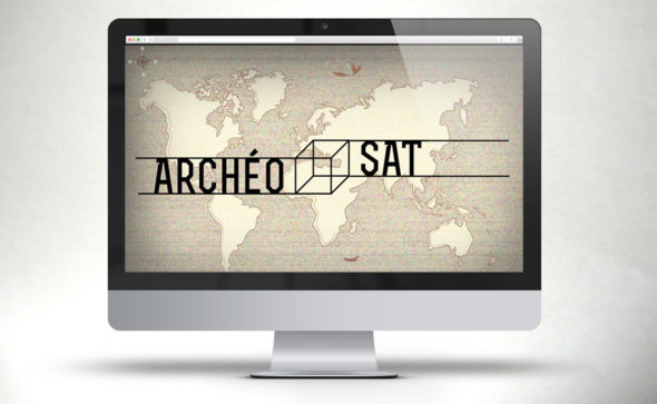Landing page for Archéo Sat, a serious game for the CNES (french National Center of Space Studies) with SapienSapienS agency.